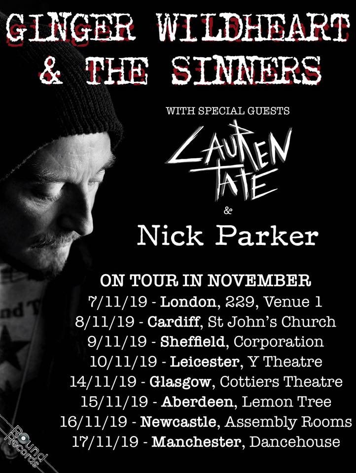 Ginger & The Sinners Novermber 2019 Tour
